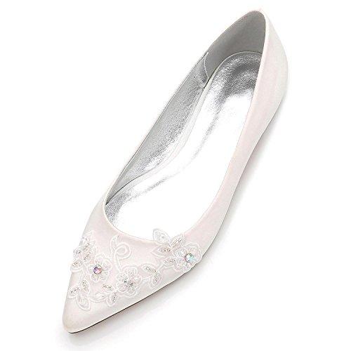 5047 shoes de Sat Boda Flores EN con Para Zapatos Punta high Novia Cerrada Elegant 17 0qw5C5
