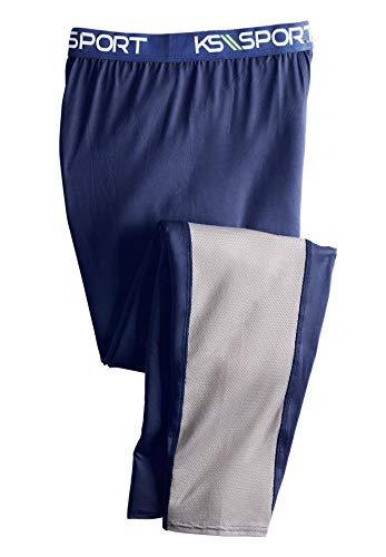 Kingsize Sport Collection Men's Big & Tall Base Layer Pants, Midnight Navy Tall-3XL ()