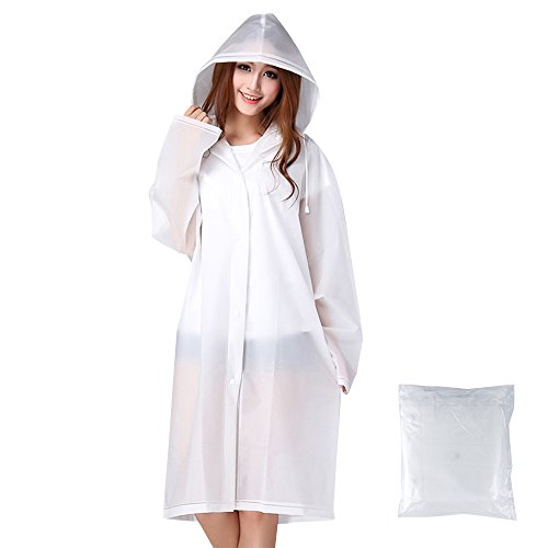Y.Shine Reusable Waterproof Raincoat Portable EVA Material, Rain Resistant Poncho with Hoods and Sleeves for Travel, Festivals, and Outdoors by Y.Shine