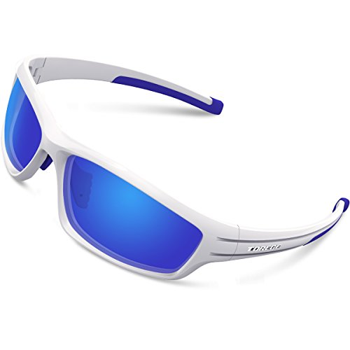 eb7ccadd42 TOREGE Polarized Sports Sunglasses For Man Women Cycling Running Fishing  Golf TR90 Unbreakable Frame TR034 (