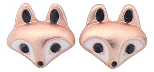 (World End Imports Cute Little Fox Head Stud Post Earrings )