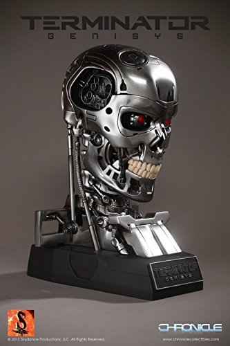 Chronicle Collectibles Terminator Genisys T-800 Endoskeleton Life-Size Bust Prop Replica by Chronicle Collectibles (Terminator T 800 Endoskeleton Life Size Bust)