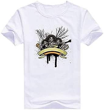 Round Neck Skull Band T-Shirt For Men