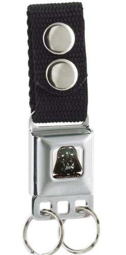 Darth Vader Face White/Black Star Wars - Seatbelt Style Keychain (Darth Vader Purse)