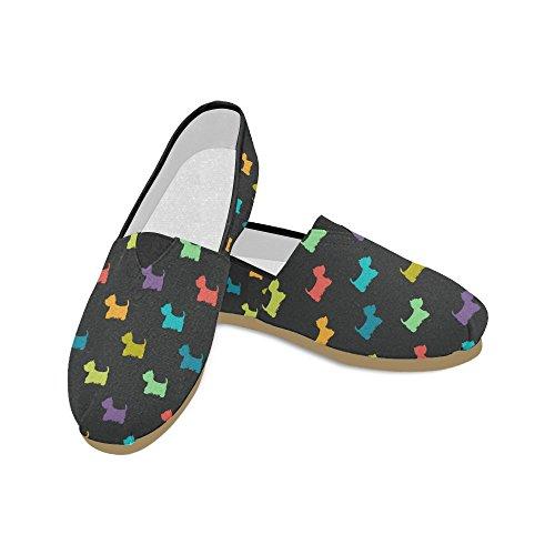D-etasjers Mote Joggesko Leiligheter Dansende Skjeletter Kvinners Klassiske Slip-on Canvas Sko Loafers Multi5