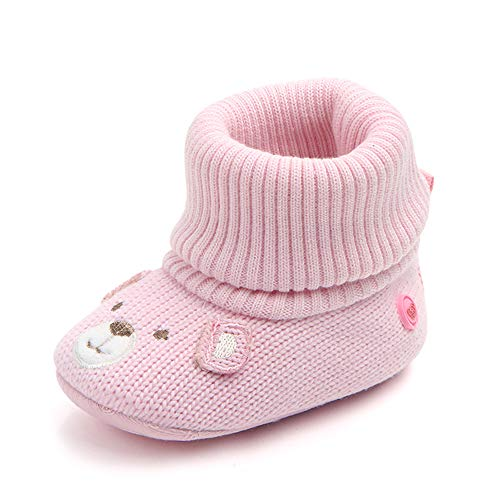 Kuner Infant Baby Boys Girls Cartoon Knitting Boots First Walkers Shoes for 0-18months