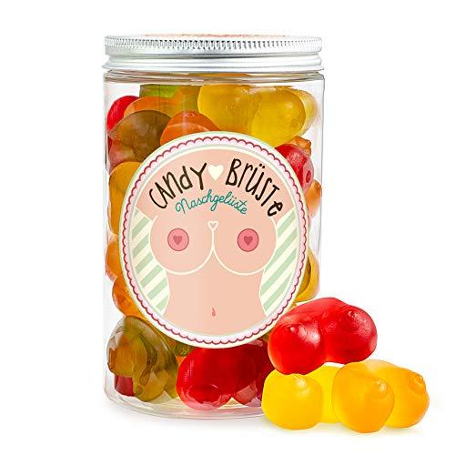Candy Brüste - Fruchtgummi-Brüste in einer Geschenk-Dose, lustiges JGA-Geschenk