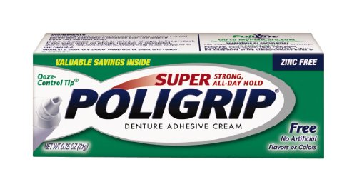 Super Poligrip Free Travel Size, .75-Ounce Packages (Pack of 12)