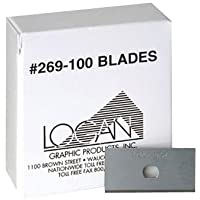 Logan Replacement Mat Cutting Blade 269-100 for Framers Edge 650 Mat Cutter, Pack of 100 blades
