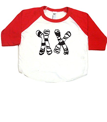 Witte T-shirt (XX Female Chromosomes Nerdy Baby Baseball T-Shirt, 3-6 MO, White/Red)