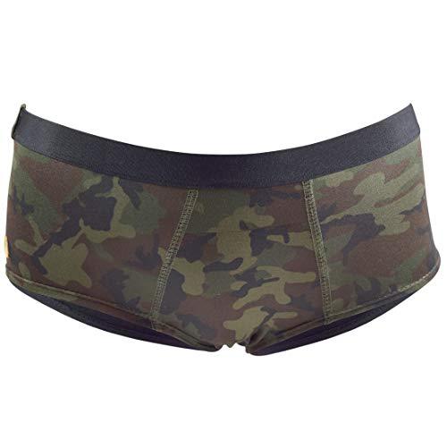 Santa Playa Signature SP Super Soft Stretchy Peachy Briefs, Women's Underwear :: Camo Solid (XS, Fatigue)