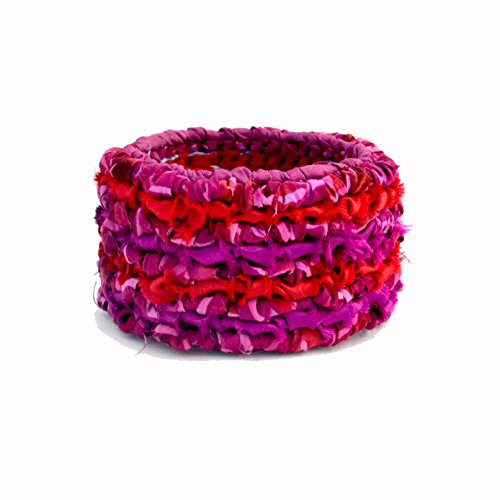 Fabric Locker Hooking - Color Crazy Locker Hooked Bracelet Kit (Garnets & Rubies)