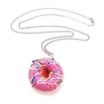Donut mit Zuckerguss Glasur Halskette - ca. 70cm lange Kette ...