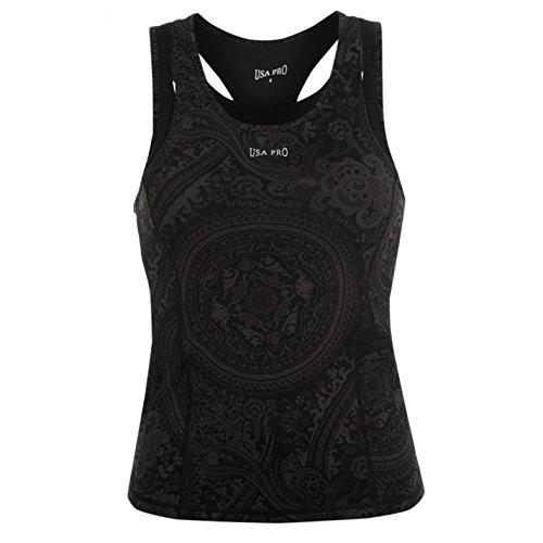 USA Pro - Camiseta sin mangas - para mujer Char/Blk Bandan