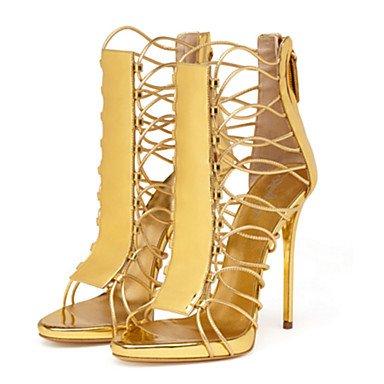 YFF Donna Sandali Primavera Estate Autunno Novità Comfort PU party di nozze & abito da sera Stiletto Heel Zipper a piedi,l'oro,US8.5 / EU39 / UK6.5 / CN40