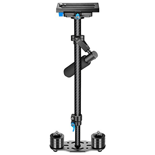 "Neewer Carbon Fiber 24inches/60centimeters Handheld Stabilizer with Quick Shoe Plate 1/4"" and 3/8"" Screw for Canon Nikon Sony and Other DSLR Cameras, Video Cameras up to 6.6pounds/3kilograms, Black"