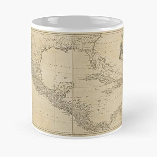 West Indies Maps Caribbean 1760-11 Ounce For Coffee, Tea, Cocoa And Mulled Drinks, The Best Gift Holidays.
