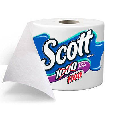 Scott 1100 Unscented Bathroom Tissue 1100 1-Ply 4 (One Ply Bathroom Tissue)
