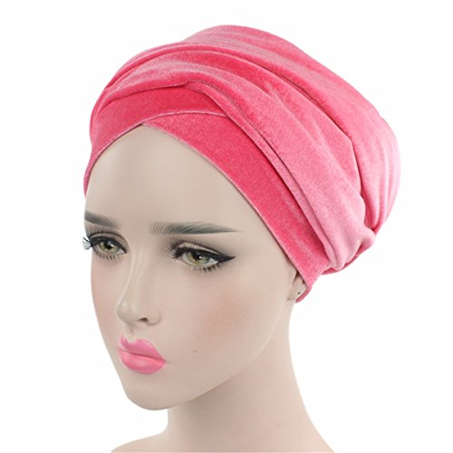 Qhome Luxury Pleated Velvet Turban Hijab Head Wrap Extra Long Tube Indian Headwrap Scarf Tie