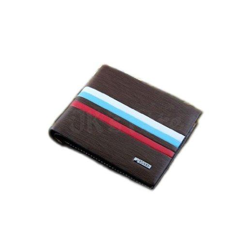 Stylish Men's Leather Wallet Pocket Card Clutch Bifold Black Purse + package