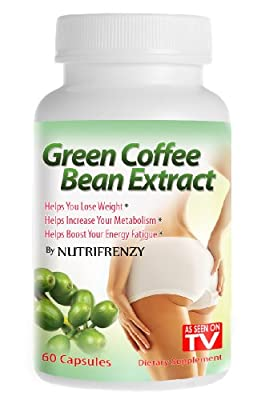 Green Coffee Bean Extract - 100% Pure! 800mg 60 Vegetarian Capsules, Weight Loss, 50% Chlorogenic Acids, Nutrifrenzy Brand (Super Sale!) by Nutrifrenzy