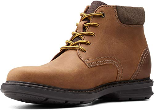 Clarks Men's Rendell Work Ankle Boot, Dark Tan
