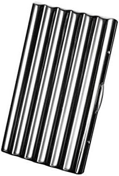 FHSY シガレットケース10-12スティック、ポータブルシンプルレトロシガレットケースレトロカッパー、サイズ8.6 * 4.2 * 1.6 Cm、8.6 * 5.0 * 1.6 Cm、シルバー (Color : Silver, Size : 8.6*4.2*1.6cm)