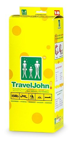 Travel John Disposable Personal Urinal Bag - 18 BAGS by