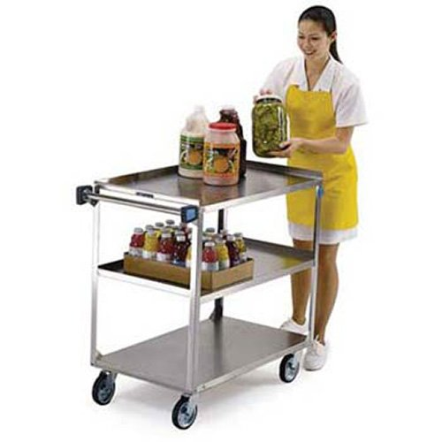 Lakeside 422 Lakeside 422 - Stainless Steel Utility Cart, 500 lb. Capacity, 3 Shelves (Lakeside Stainless Steel Carts)