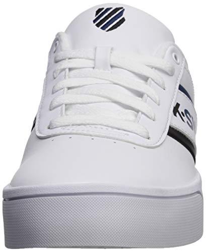 K-Swiss Mens Court LITE SPELLOUT Sneaker, White/Poseidon/Black ...