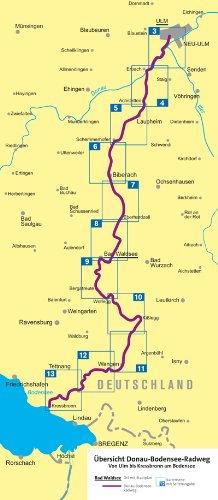 Donau Bodensee Radweg Fahrrad Tourenkarte Gps Genau 1 50000