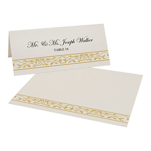 Gold Border Place Cards - 6