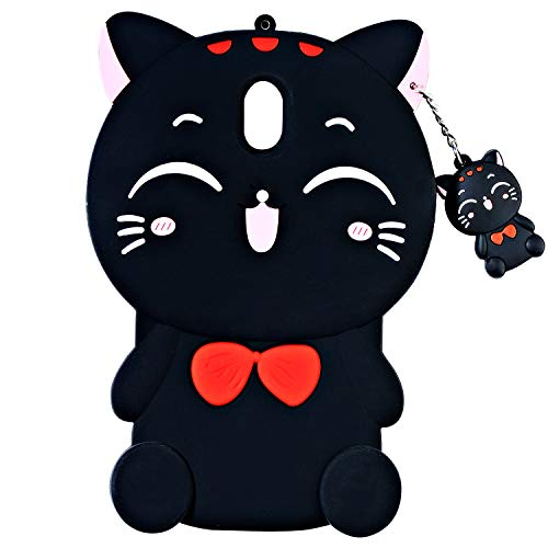 TopSZ Lucky Cat Case for Samsung Galaxy J7 Refine,J7 Aero,J7 Star,Silicone 3D Cartoon Animal Cover,Kids Girls Teens Animated Cool Fun Cute Kawaii Soft Rubber Funny Unique Character Cases for J7 -