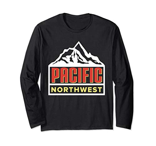 PNW Pacific Northwest Outdoors Trees Mountain  Long Sleeve T-Shirt
