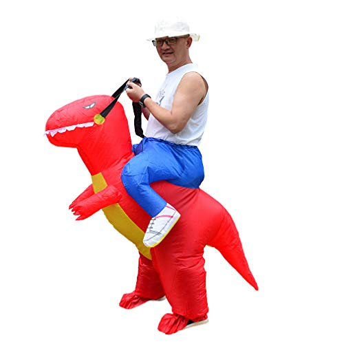 SIREN SUE Inflatable Dinosaur Costume Costume Riding in a Dinosaur Inflatable Fancy Dress Blow Up Costumes Adult -