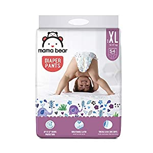 Amazon Brand – Mama Bear Baby Diaper Pants, Extra Large (XL) – 54 Count