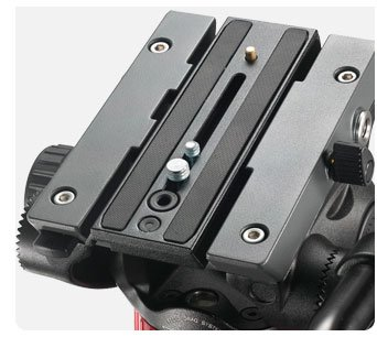 Set of 2 Replacement Quick Release Plate for The Manfrotto MVH502AH, 504HD, MVK502AM, MVH502A,546BK-1, 504HD,546BK, 504HD,535K, 504HD,536K, 504HD,546GBK ...