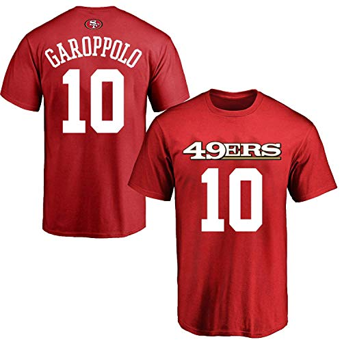 OuterStuff Jimmy Garoppolo San Francisco 49ers #10 Red Youth Name & Number Shirt Large 14/16