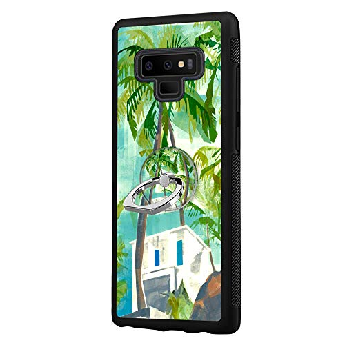 Samsung Galaxy Note 9 White Cottages Case with Ring Holder Stand Cellphone 360 Degree Rotating Ring Holder Kickstand Drop Protective Cover for Samsung Galaxy Note 9