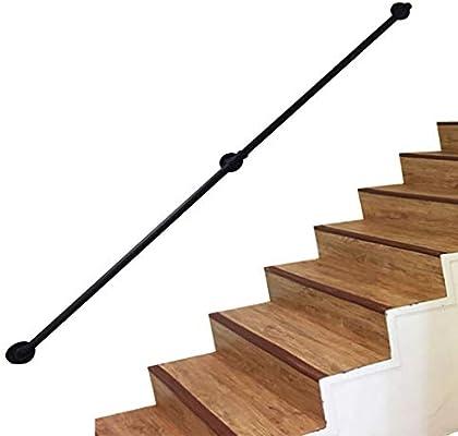 Rieles de balaustre de tubería de Hierro Negro Industrial 30~600cm Escalera Pasamanos de Seguridad con Accesorios, apoyabrazos Tubular Retro Hogar contra la Pared Barandillas de Cubierta de Loft: Amazon.es: Hogar