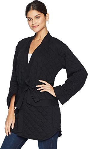 Hurley AJ3611 Women's Hollowknit Wrap Fleece Top, Black - X-Large by Hurley (Image #1)