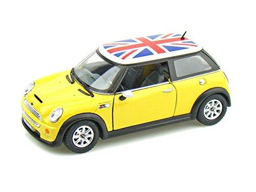 Mini Cooper s w bandiera britannica 1 28 giallo