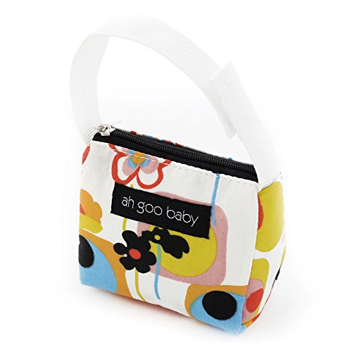 Ah Goo Baby Pacifier Holder and Tote, Poppy Pattern ()