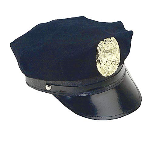 Novelty Costume Police Cop Navy Blue Hat with