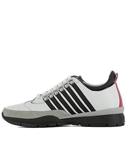 DSQUARED2 HOMME SNM010111570001M072 BLANC CUIR BASKETS y405szn5MD