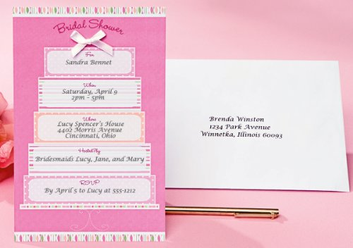 Wilton Bridal Shower Cake Invitations ()
