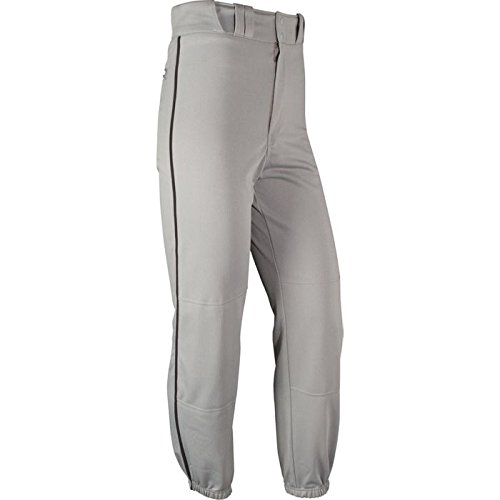 (CHAMPRO Men's Sports Pro-Plus Baseball Pants with Piping, Grey/Black, X-Large)