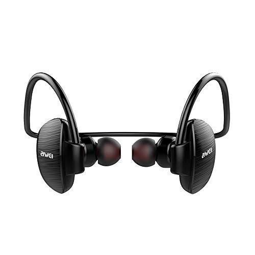 Tomorrow Sun Shine Bluetooth Headphones Wireless Bass Stereo Earbuds IPX4 Waterproof CVC Noise Reduction with Mic Earphones Gym Jogging Sports Black