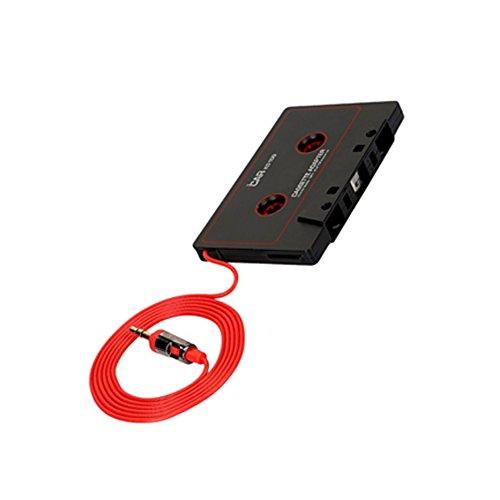 Audio - Adaptador de cinta de casete para coche (3,5 mm, para teléfono, MP3, AUX, CD)