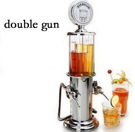 Avtion Gun Barware Mini Beer Pourer Water Liquid Drink Dispenser Wine Pump Dispenser Machine (Double Gun)